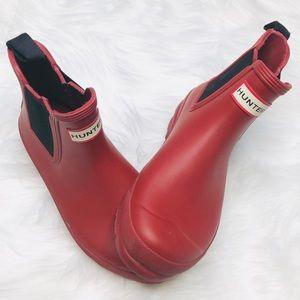 Hunter Original Chelsea Rain Boots Military Red 7